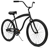 Critical Cycles Men's Beach Cruiser 1-Speed Bike, Matte Black