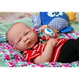 """My Dream Come True Baby Boy Berenguer Realistic 14"""" Anatomically Correct Real Soft Vinyl Washable Preemie Life Like Reborn Pacifier Doll"""