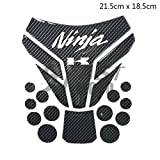 9FastMoto 3D Motorcycle Tank Pad Protector for KAWASAKI Kawasaki kawasaki Motorbike Racing Fuel/Oil/Gas Tank Decals Decal (Carbon fiber)