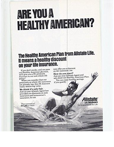 1979 Vintage Magazine Advertisement Allstate Life Insurance