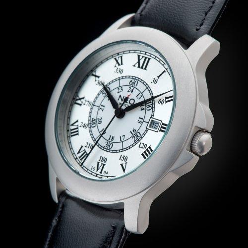 Neo Watch N5 – 015 – klocka för män, läderband svart