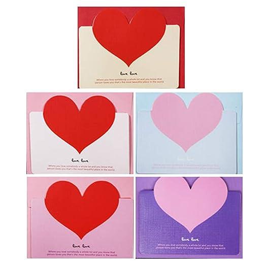 Toyvian 10pcs Amor romántico Tarjetas de felicitación Forma ...