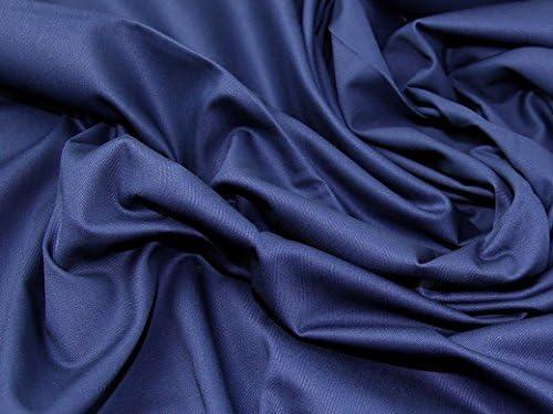 Peso medio tela de algodón para vestidos (azul marino – por metro: Amazon.es: Hogar