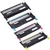 Do It Wiser Compatible Toner Cartridge Set Replacement For Dell 1230C 1235CN – 330-3012 330-3015 330-3014 330-3013 – (Black Cyan Magenta Yellow – Black 1,500 Pages – Color 1,000 Pages), Office Central