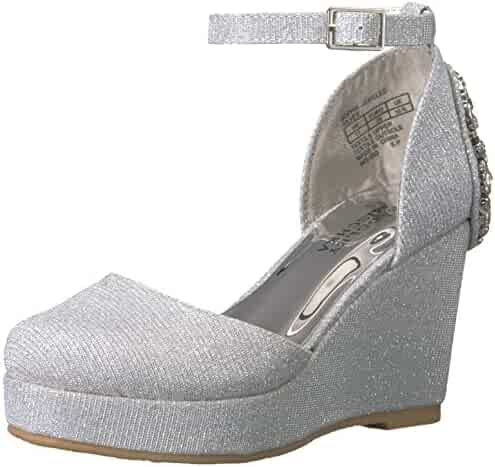 Badgley Mischka Kids' Sophia Jeweled Wedge