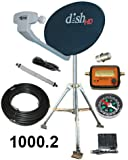 Dish Network 1000.2 Turbo HDTV RV Satellite Tripod Kit for Portable Satellite