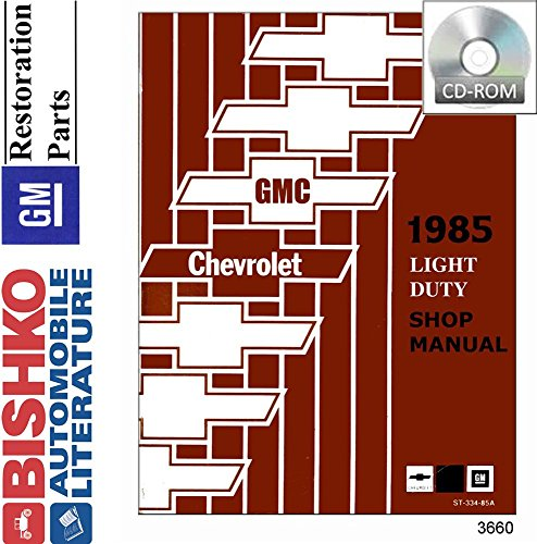 bishko automotive literature 1985 Chevy GMC 10-35 Pickup Truck Shop Service Repair Manual CD ()