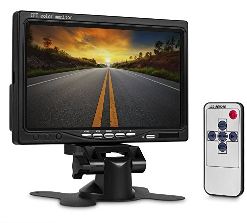 Soled 7 inch TFT LCD Digital Car Rear View Monitor With Remote and Stand
