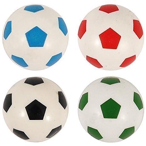 8x flummi dopsball Pelotas Fútbol Blanco de colores 3,5 cm Regalo Cumpleaños: Amazon.es: Juguetes y juegos