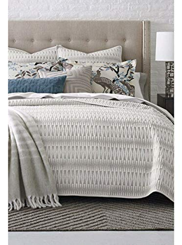 - Dwell Studio Loire Geometric Euro Sham/Ink Black and Cream 100% Cotton