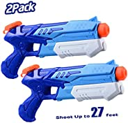 HITOP Water Guns for Kids, 2 Pack Super Squirt Guns Water Soaker Blaster 300CC Toys Gifts for Boys Girls Child
