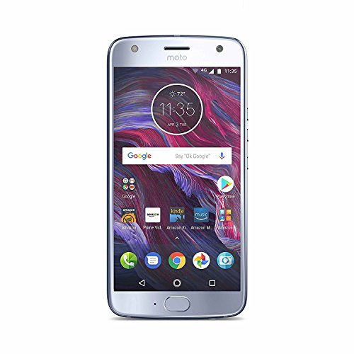 Moto X (4th Generation) with Alexa Hands-Free - 32 GB - Unlocked - Sterling Blue - Prime Exclusive (Moto X Best Phone Ever)