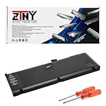 A1321 Battery for Apple Macbook Pro 15 inch A1286 (only for 2009 2010 version)Laptop MB985 MB986J/A MC118 MB986 020-6380-A 020-6766-B 73Wh 10.95V by ZTHY