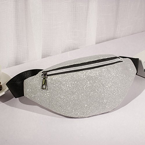 Danhjin Men Women Fashion Zipper Closure Bling Sequins Shoulder Phone Bag Messenger Bag Chest Bag by Danhjin (Image #1)