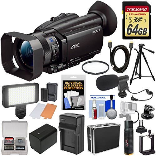 Sony Handycam FDR-AX700 4K HD Video Camera Camcorder with 64