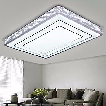 led deckenleuchte moderne minimalistische fernbedienung wohnzimmer lampe schlafzimmer rechteckigen warme atmosphre restaurant - Deckenleuchte Schlafzimmer Weis