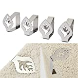 4pcs Leaf Stainless Steel Table Cloth Clips Table Cover Holder Party Picnic Clamps