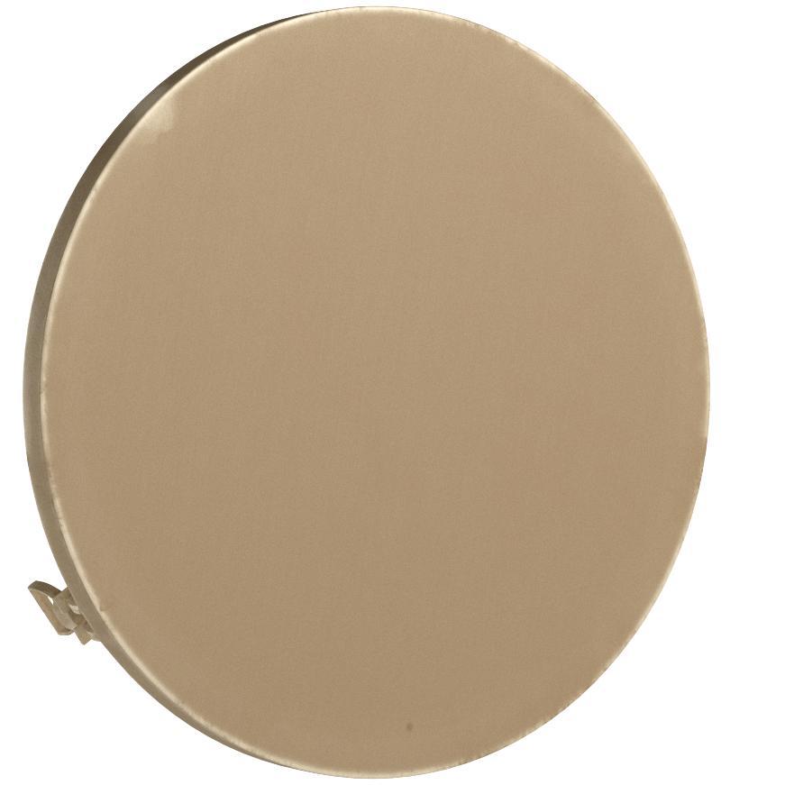 Specchio a obl/ò apribile G/én/érique 30 x 30 x 5,5 cm Ottone Ottone Color Oro