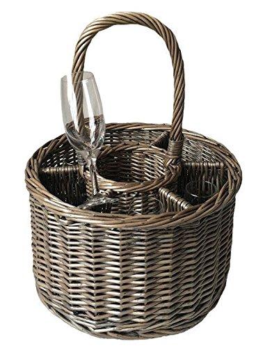 Special Event Basket Wicker Basket Wine Glasses by Red Hamper