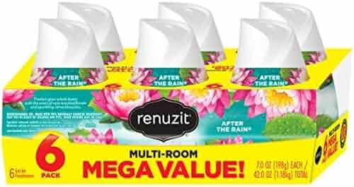 Renuzit Adjustable Air Freshener Gel, After The Rain, 7 Ounces (6 Count)