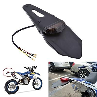 KATUR Rear Fender LED Brake Red Tail Light Lamp with Bracket for Off-Road Motorcycle Motocross Dirt Bike (Smoke Lens): Automotive