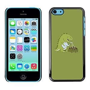 X-ray Impreso colorido protector duro espalda Funda piel de Shell para Apple iPhone 5C - Monster Cartoon Dinosaur Pastel