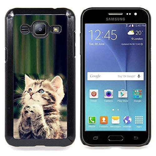 STPlus Gato en una caja Animal Carcasa Funda Rigida Para Samsung Galaxy J2 #4