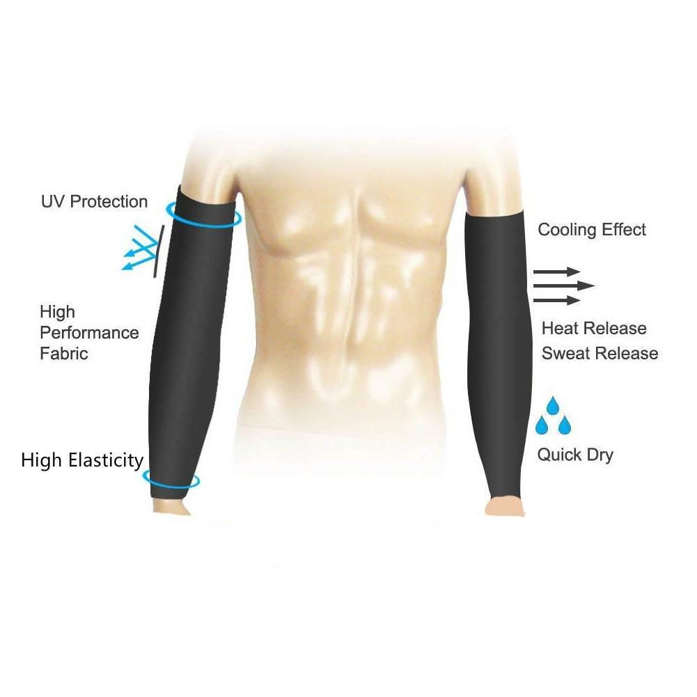ZZKKO Emoji - Mangas de refrigeración para brazo y brazo, protección solar UV, para hombres, mujeres, running, golf, ciclismo, calentador, mangas 1 par: ...