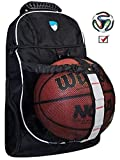 Hard Work Sports Basketball Backpack Unisex Soccer Backpack With Ball Compartment Never Lose Ball