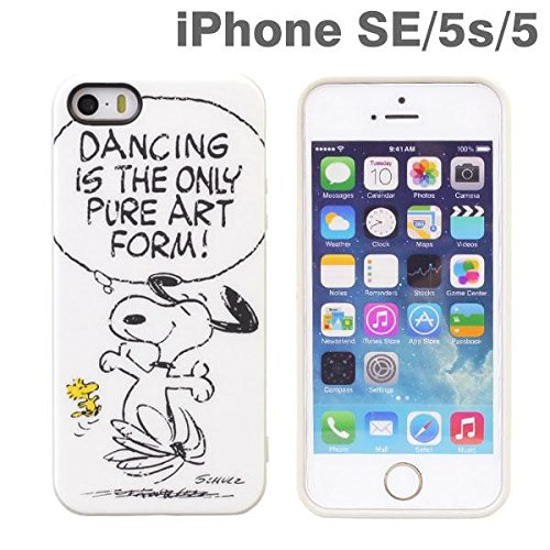 best website fff26 75d91 Peanuts Snoopy Soft TPU Vintage Case for iPhone SE/5s/5 (White)