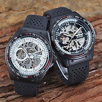 XKC-watches Relojes para Hombres, Regla de cálculo Skeleton Auto-mecánico de los