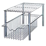 Deco Brothers DecoBros Stackable Under Sink Cabinet Sliding Basket Organizer Drawer Chrome