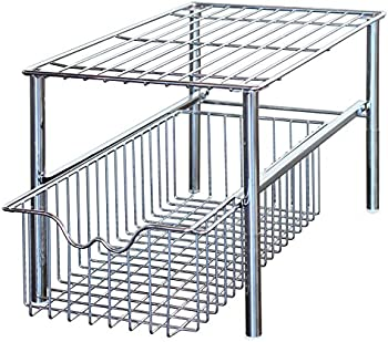 DecoBros Stackable Under Sink Cabinet Sliding Basket Organizer Drawer