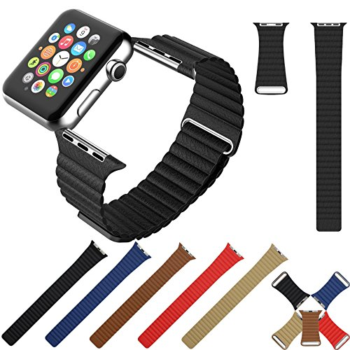 mrpro-42-mm-premium-soft-leather-loop-band-magnet-lock-strap-replacement-band-for-apple-watch-and-al