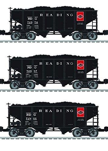 READING 2 BAY HOPPER 3 PACK -  LIONEL TRAINS, LIO684149