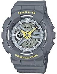 Casio Baby-G BA110PP-8A Punching Pattern Series Analog Digital Grey Watch