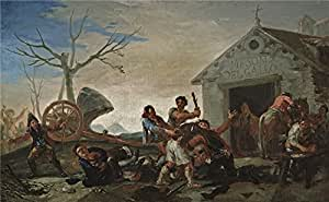 Oil painting 'Goya y Lucientes Francisco de La rina en el Meson del Gallo 1777 ' printing on high quality polyster Canvas , 16 x 26 inch / 41 x 66 cm ,the best Gym artwork and Home artwork and Gifts is this Amazing Art Decorative Canvas Prints
