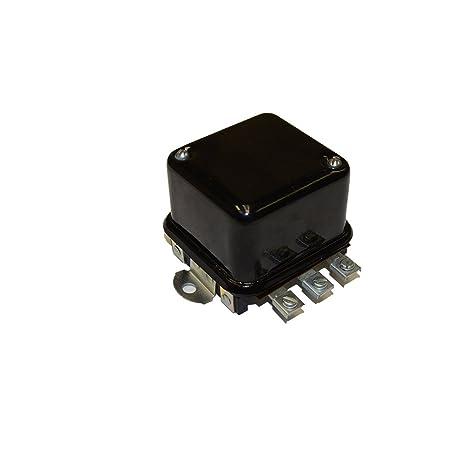 voltage regulator - 12 volt - 4 terminal - flat mount massey ferguson 2135  165 203 35 135 85 3165 175 150 to35 202 65 300 50 205 180 204 88 40  international