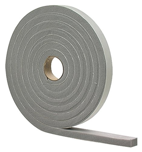 M-D Building Products 2253 High Density Foam Tape, 3/16-by-3/8-Inch by 17 Feet, Closed Cell, Gray