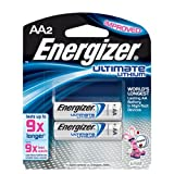 Energizer AA Lithium Batteries 2 Pack, Lasts 9 Times Longer