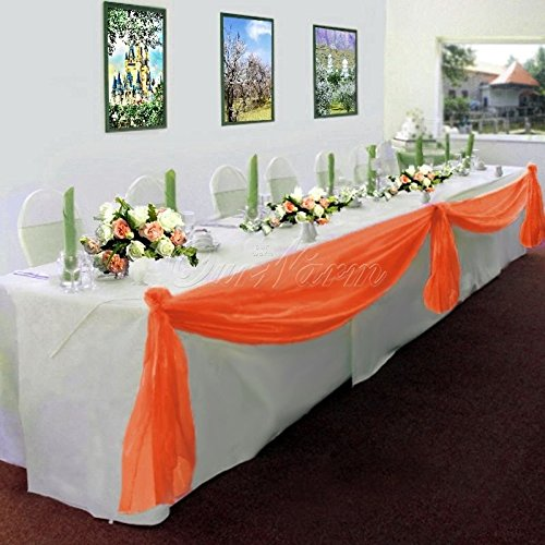 GorgeousHome Valance *Different Colors* 1 Swag For Table Chair Window Wall Church Decor Pole Fabric Size (6 YARD) (Wedding Wall Drapes)