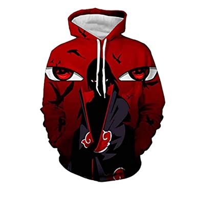 e0425ffc CHENMA Men Naruto 3D Print Pullover Hoodie Sweatshirt With Kangaroo Pocket