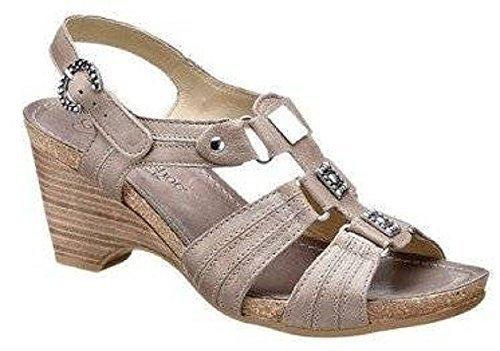 Sandale aus tollem Leder in Farbe Sand Sand