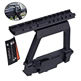 ak 47 quick release side mount - CyberDyer Heavy Duty Tactical Picatinny Side Rail Scope Mount Detach Rail Base Fit AK-47 Saiga