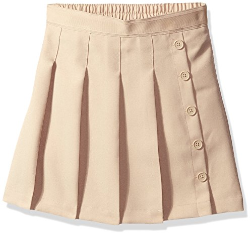 Nautica Girls' Big School Uniform Pleated Scooter, Khaki, 10