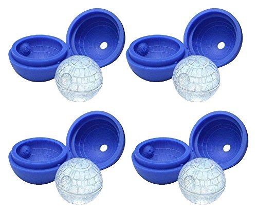 ZEEES 4-Pack of Star Wars Death Star Silicone Ice Molds