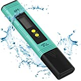 PH Meter with Automatic Calibration, 7Pros High Accuracy Pen Type Water Quality Tester, 6 pH Buffer Powder Packets, Best Pocket Size Tool for Testing Alkalinity of Drinking, Pool and Aquarium Water