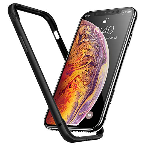 (Humixx Extre Series iPhone Xs Case,Utra-Thin Aluminum TPU Hybrid Shockproof Bumper Case Compatible with iPhone X/iPhone 10 -Matte Black )
