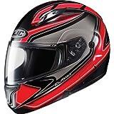 HJC Zader Men's CL-MAX II Bluetooth Full Face Motorcycle Helmet - MC-1 / Medium