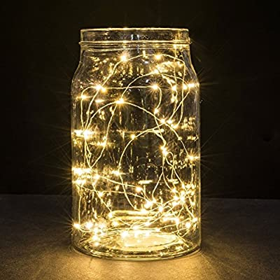 TLT Luxury Fairy String Lights Battery Operated 3.3ft(1M) 10 Leds LED Moon Lights Starry String Lights Copper Wire For Wedding Centerpiece Dinner Party Decoration